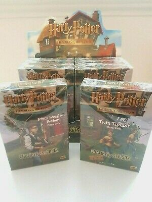 Twin Trouble & Percy Potions Theme Deck Harry Potter TCG English Sealed Mint x2