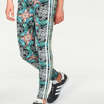 size 9-10 years - adidas originals 3 stripes zoo leggings kids - d98904