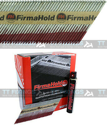 Collated Nails With Gas 1st Fix Bright Paslode Equiv 2.8 x 63mm 3300 + 3 Gas