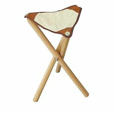 Stool Foldable For Painters In Wood Seat Leather Cm 50 Height