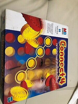 Connect 4 /Four ~ MB Games Hasbro 1999 ~ 90s Vintage Retro Board Game ~ Complete