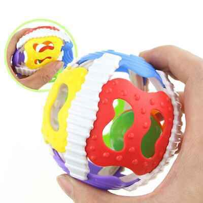 Baby Ball Rattles Puzzle Grasping Soft Plastic Hand Colorful Bell Rattle Toy UK