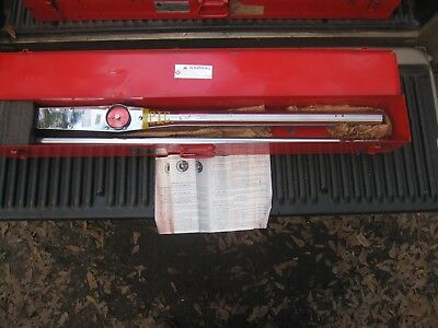 """Wright Tool 8470 1"""" drive Dial type torque wrench"""