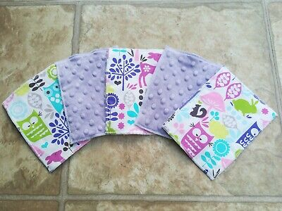 5 Large Washable Reusable Baby Wipes