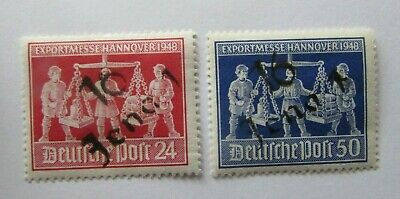 1948 Germany Soviet Occupation Local issue Michel #lva-b District 16 Jena MH set