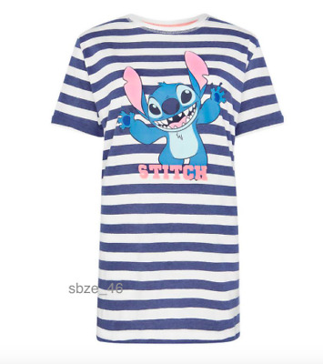 Primark Ladies Disney Stitch Nightshirt Women Girls Nightdress Nightie Pyjamas