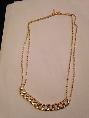 18k Gold Plated beautiful chain Necklace Choker charm L254