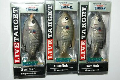 "koppers live target sunfish 3/"" 7//16oz olive metallic bluegill sfh75t560 surface"