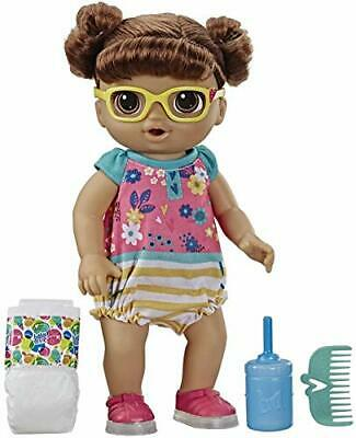 Baby Alive Step 'N Giggle Baby Brown Hair Doll with Light-Up Shoes, Responds
