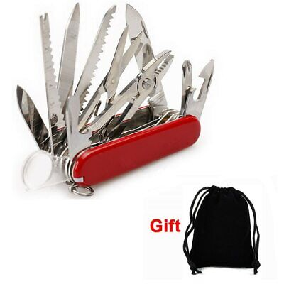 Red Pocket Army Knife Folding Multi-Use Tool Camping Survival 31-use Swiss