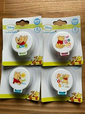 Disney's Pooh Pacifier Dummy Soother Clip Holder Chain Leash Strap