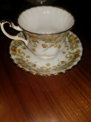 VINTAGE Royal Albert Sheraton Series Marjorie Footed Cup and Saucer, England