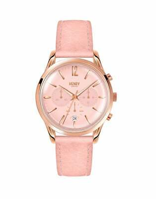 Henry London Shoreditch Chronograph 39mm Watch Femme Montre - Nude Pink Leather
