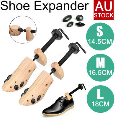 2-Way Wooden Shoes Stretcher Expander Shoe Tree Unisex Bunion Plugs AU