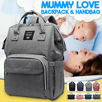 LEQUEEN Waterproof Baby Mummy Diaper Bag Maternity Nappy Travel Backpack NEW