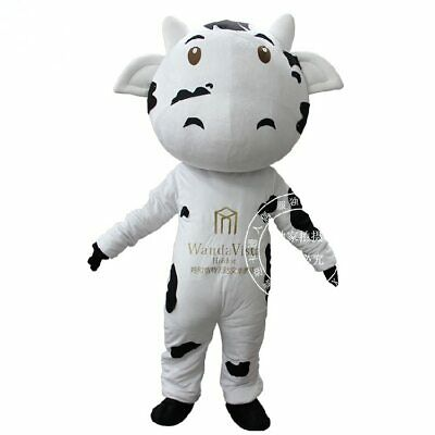 Details about  /Lovely Milk Cow Mascot Costume Cosplay Party Game Dress Halloween Xmas Adult New