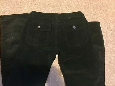 Girls Gap BLACK VELVET Stretch straight leg Jeans Trousers size 12 years