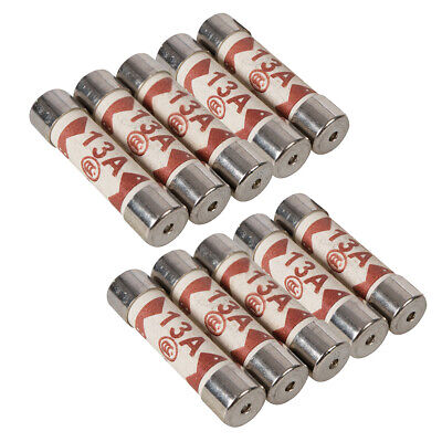 10 PACK-Replacement 13A Electrical Fuses- 25.4mm Standard Plug Top Fuse BS1362