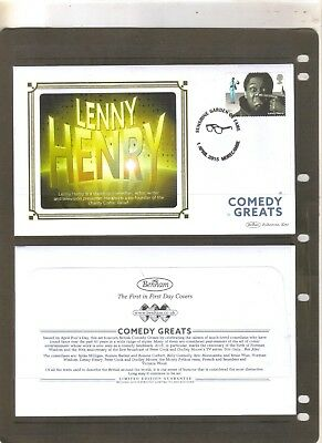 Gb British Comedy Stars Lenny Henry Cover 2015 Stamps Benham Collection Album