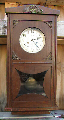 Antique German Wall Clock  Junghans - Jugend Style - 1912s.