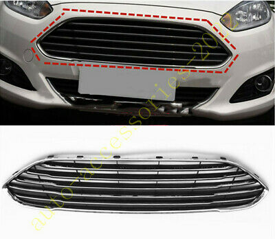 Chrome ABS Front Bumper Upper Grille Grill Cover Fit For Ford Fiesta 2014-2018