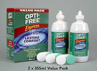 Alcon Opti Free Express Value Pack 2 x 355ml Multi Purpose Disinfecting Solution