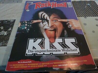 Gene Simmons(Kiss) In And On Cover Rockhard German Magazine