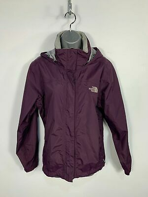 Womens The North Face Purple Waterproof Light Weight Hooded Coat Jacket Size M