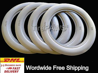 Firestone Tyre style R13''x 3inch White Wall Tire Trim Port-a-wall-Set of 4 Side