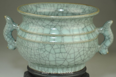 China Collect old Longquan porcelain natural cracked glaze incense burner /Db02J