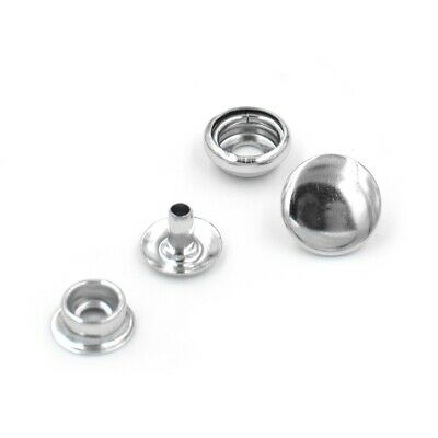 Press studs small Silver 10mm,  use on leather, canvas, clothing,