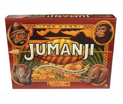 Jumanji Wooden Play Pieces Box Board Game Full Cardinal Edition New Open Box