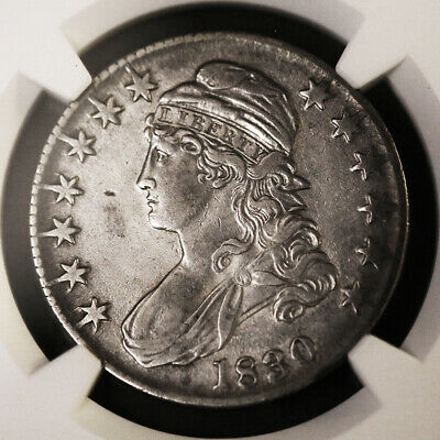 1830 50C Capped Bust, Lettered Edge Half Dollar, NGC XF Details, Gorgeous!