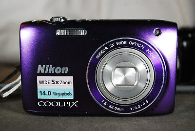 Nikon COOLPIX S3100 14MP Compact Digital Camera -EXC condition.Choice of Colours