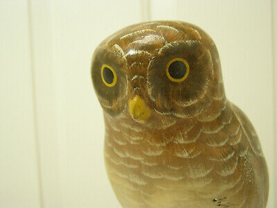 Vtg MOTTAHEDEH Design ITALY S 6624/B Pottery OWL On TREE  Dated 1900