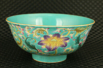 old china porcelain hand painting flower statue bowl noble home decoration gift