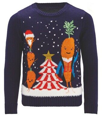 Aldi Kevin the Carrot Kids Christmas Jumper Age 5-6 BRAND NEW WITH TAGS