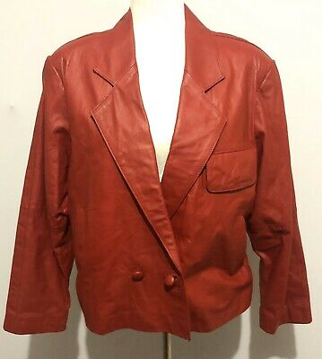 Pacific Womens Leather Jacket Red One Size Motorcycle Jacket Valentine's Day
