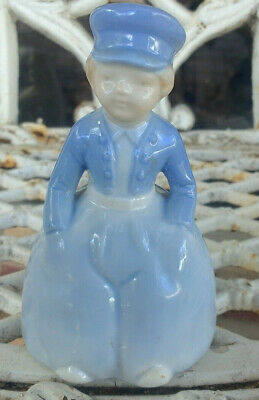 antique German half doll related glazed china Bell