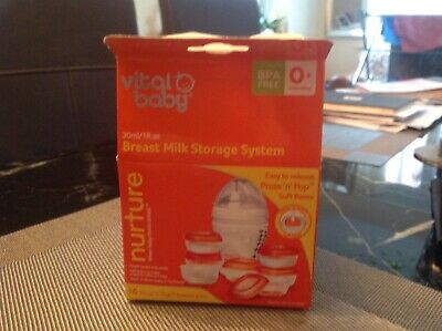 Vital Baby Breast Milk Storage System, With Press And Pop Bases