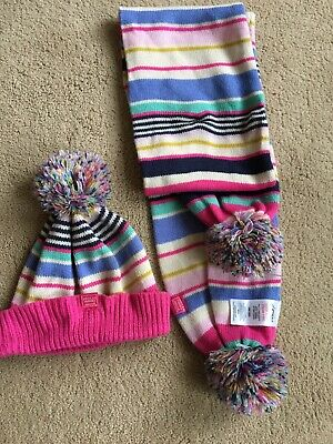 Joules girls multicoloured hat and scarf, One Size Used .