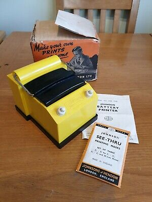 Vintage Rare Johnsons Battery Contact Printer