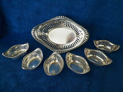 Sterling Silver Gorham Reticulated Bead Edge Nut Bowl Set