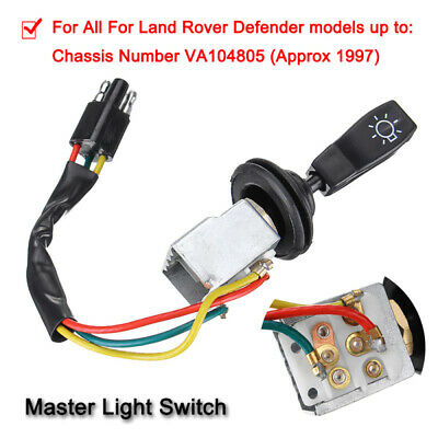 Universal Car Headlight Master Switch Control Kit Repair For Land Rover Defender