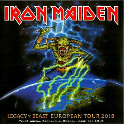 """IRON MAIDEN : """"Legacy of the beast - Excellent Live aStockholm 2018) (RARE 2 CD)"""