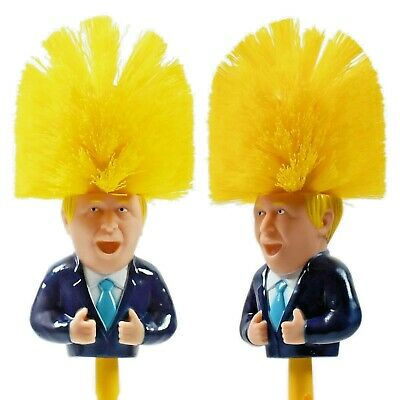 Boris Johnson Toilet Brush,Satire,Fun Novelty Gift, Secret Santa Brush Prank
