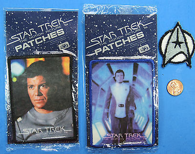 PATCH LOT of 3 79 vtg Star Trek The Motion Picture MOC Captain KIRK Insignia