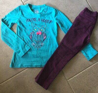 Girls Sparkly Owl Outfit Size 4/5