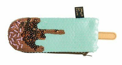 Sequin Ice Cream Purse - Make Me Iconic - Aqua