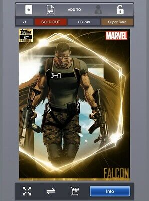 Marvel Collect digital Topps Ultimate Universe 2nd Falcon
